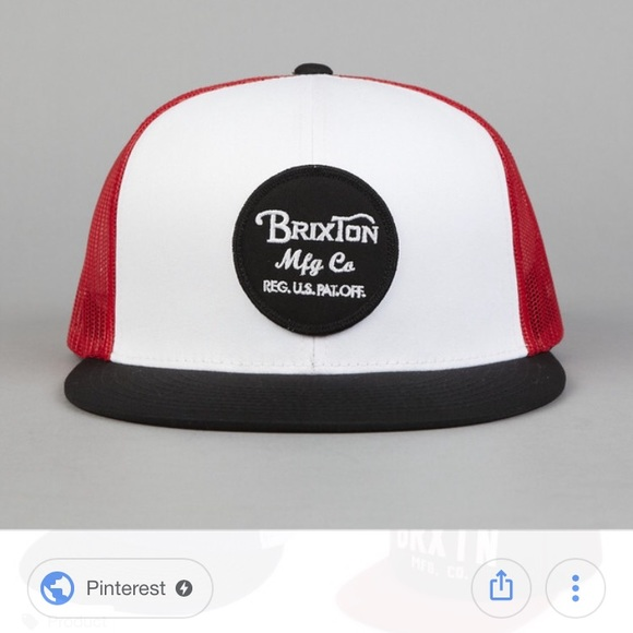 bee3a0b168ffa Brixton Wheeler Trucker hat white red black NWT